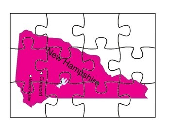 New Hampshire State Puzzle Map #2