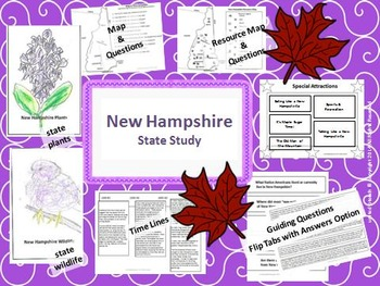 New Hampshire State Study, Interactive Notebook, and Bulle