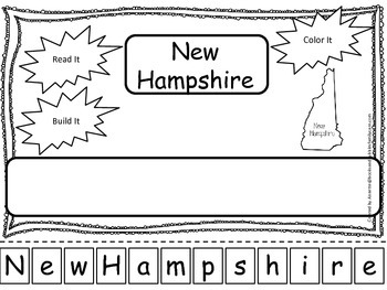 New Hamshire Read it, Build it, Color it Learn the States
