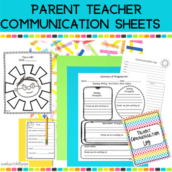 Parent Teacher Conference Home & School Communication Form