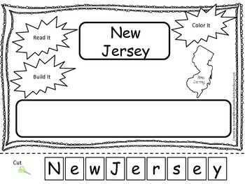 New Jersey Read it, Build it, Color it Learn the States pr