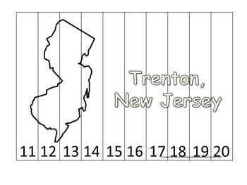 New Jersey State Capitol Number Sequence Puzzle 11-20.  Ge