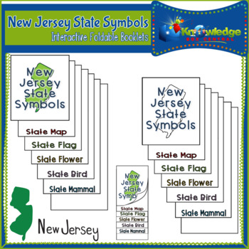 New Jersey State Symbols Interactive Foldable Booklets
