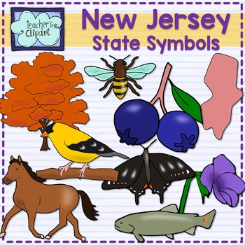 New Jersey state symbols clipart