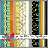 New Kid in Class Digital Papers