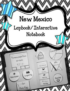 New Mexico State Lapbook/Interactive Notebook.  US State H