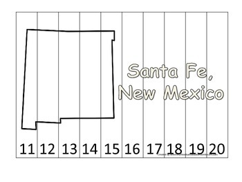 New Mexico State Capitol Number Sequence Puzzle 11-20.  Ge