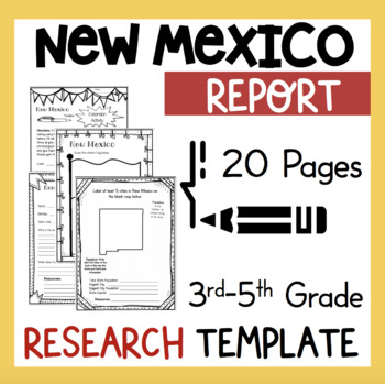 New Mexico State Research Report Project Template + bonus