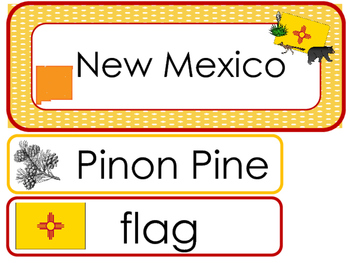 New Mexico State Word Wall Bulletin Board Set. Geography C