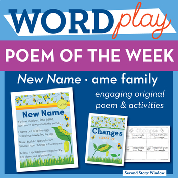 New Name - ame Word Family Poem of the Week