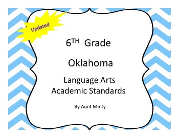 New Oklahoma 6th Grade Language Arts Academic Standards an