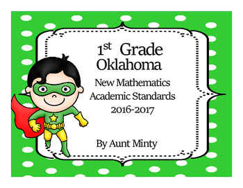 New Oklahoma First Grade Math Academic Standards and Objec