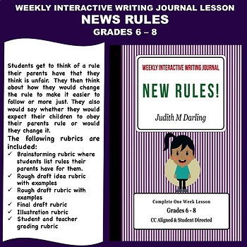 Interactive Weekly Writing Notebook Lesson - New Rules - C