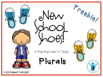 New School Shoes Freebie for Targeting Plurals