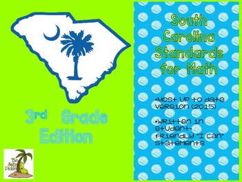 New! South Carolina Math Standards for 3rd Grade