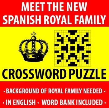 Spanish - New Spanish Royal Family - Crossword Puzzle