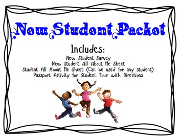 New Student Activity Packet