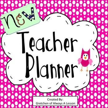 New Teacher Planner Dividers