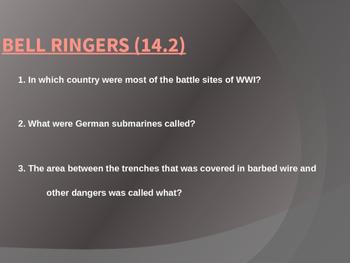 New Technologies of World War 1 PowerPoint