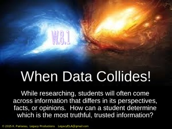 When Data Collides! Help with determining truth