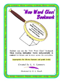 New Word Clues Bookmark