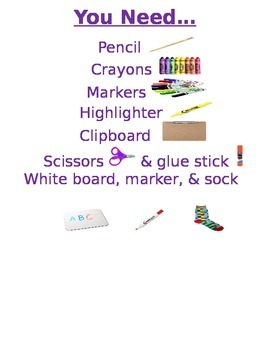 Supply Checklist