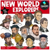 New World Explorers Clip Art Bundle