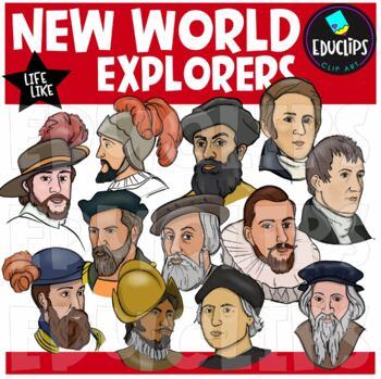 New World Explorers Clip Art Bundle {Educlips Clipart}
