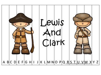 New World Explorers (Lewis and Clark) themed Alphabet Sequ