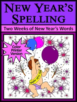 New Year's Spelling Activity Packet
