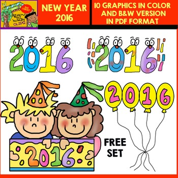 New Year 2016 Clipart Gift