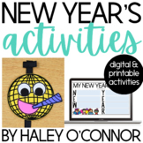 New Year Activities Printables, Flipbooks, and Activities