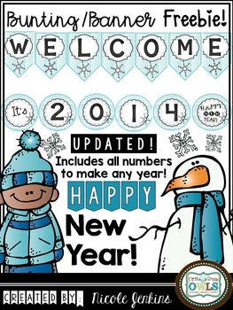 New Year Bunting Banner Freebie