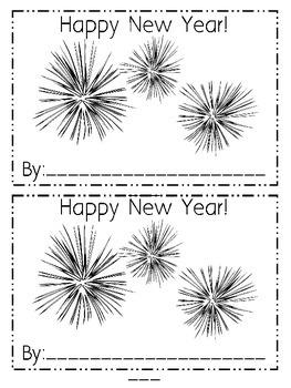 New Year Emergent Reader