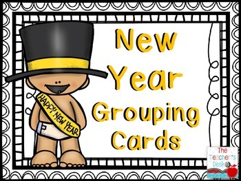 New Year Grouping Cards FREEBIE