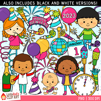 New Year Party Clipart