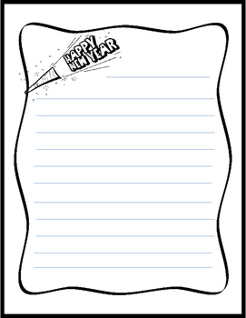 New Year Writing Template