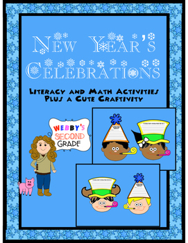 New Year's Celebration Literacy and Math Activities with B