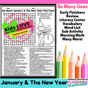 New Year's Activity: New Year's Word Search (non-fiction,