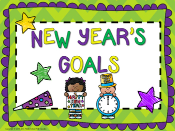 New Year's Goal Setting for Students (New Year's Resolutions)