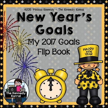 New Year's Goals Flip Book {Goal Setting for Improving in