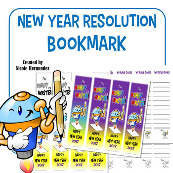 New Year's Resolution 2017 Bookmarks - READY to WRITE