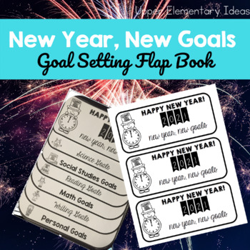 New Year's Resolution Goal Setting {2016 Flap book FREEBIE}