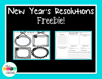 New Year's Resolutions Freebie