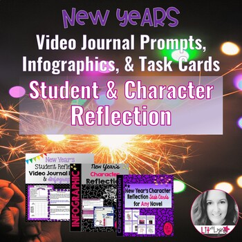 New Year's Student & Character Reflection Bundle
