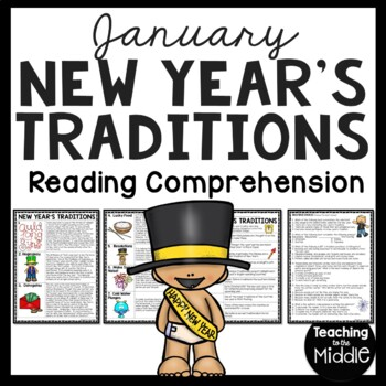 New Year's Traditions Reading Comprehension Worksheet, Jan