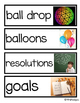 New Year's Vocabulary Word Cards