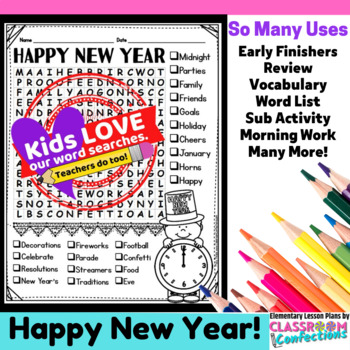 New Year's Activity: New Year's Vocabulary: New Year's Wor