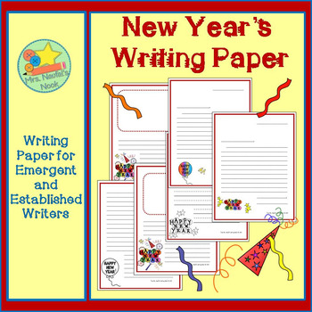 New Year's Writing Paper for Emergent and Established Writers