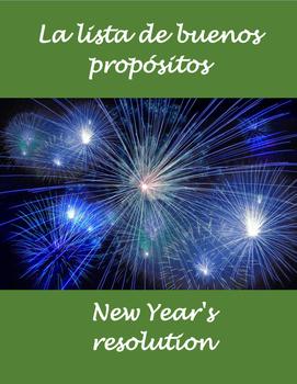 New Year's resolution- buenos propositos Año Nuevo